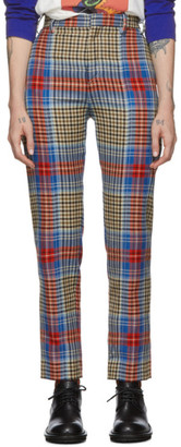 Charles Jeffrey Loverboy Multicolor Tartan Column Suit Trousers