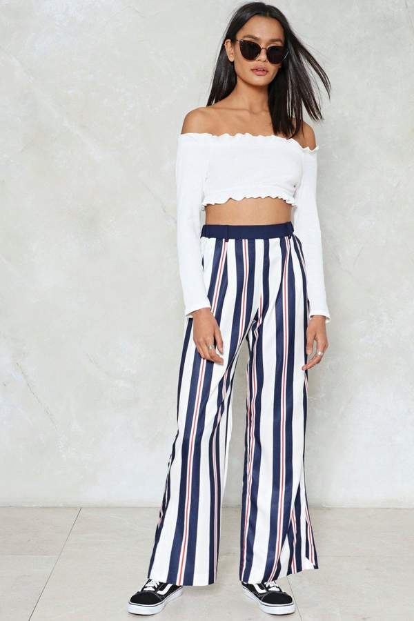 nastygal Don't Think Twice Striped Pants