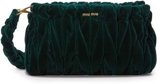 Miu Miu Velvet Matelasse Big Crossbody Bag