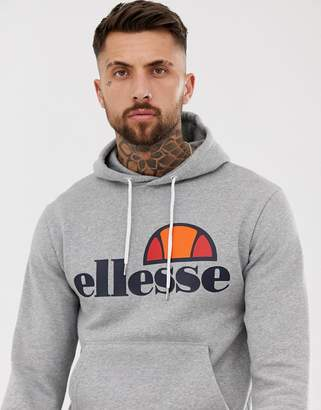Ellesse hoodie with classic logo in gray