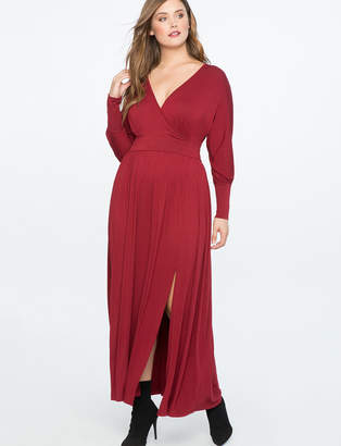 ELOQUII V-Neck Maxi Dress
