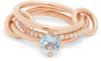 Rosegold SPINELLI KILCOLLIN Astral aquamarine, diamond & rose-gold ring