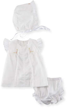 Luli & Me Cotton Dress Layette Set, Size Newborn-9M