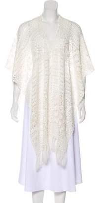 Alice + Olivia Fringe Crochet Shawl w/ Tags