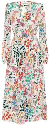 Etro Flora printed silk midi dress