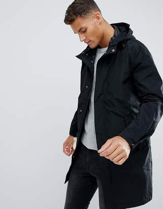 Jack Wills Kedleston Fishtail Parka In Black