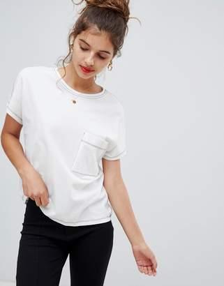 Bershka contrast stitch t shirt
