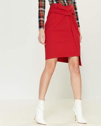 Blugirl Twist Front Pencil Skirt