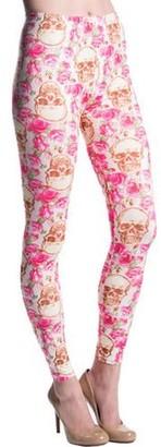 Aerusi Women's Fashion Design Full Length Stretchy Leggings