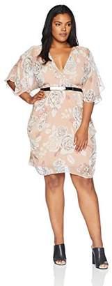 City Chic Women's Apparel Women's Plus Size Dress Wrap Whimsy