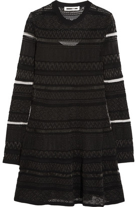 McQ Alexander McQueen - Knitted Mini Dress - Black $450 thestylecure.com