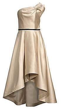 Shoshanna Women's Amberose Strapless High-Low Gown