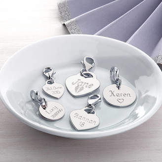 Hurleyburley Personalised Sterling Silver Heart And Disc Charms