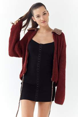 Urban Outfitters Winnie Zip-Front Sweater