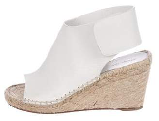 Celine Leather Espadrilles Wedge Sandals