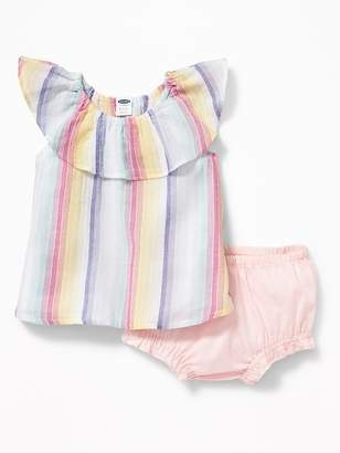 Old Navy Ruffled Gauze Top & Bloomers Set for Baby