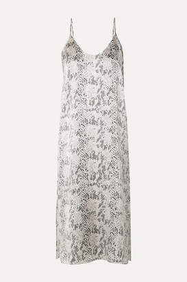 ATM Anthony Thomas Melillo Snake-print Silk-satin Midi Dress - Snake print