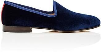 Del Toro Men's Prince U Velvet Venetian Slippers - Navy