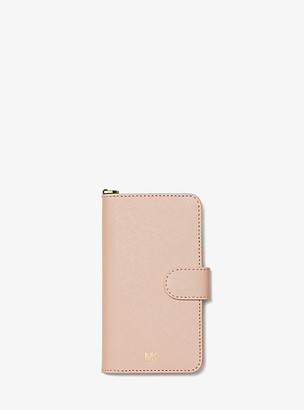 Michael Kors Saffiano Leather Folio Case For Iphone X/xs