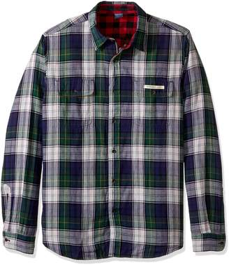 Tailor Vintage Men's Long Sleeve Buffalo Doubleface Reversible Shirt