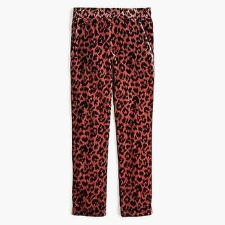 J.Crew Pull-on easy pant in rose leopard velvet