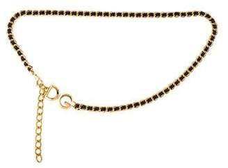 Dolce & Gabbana Chain-Link Logo Waist Belt
