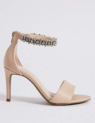 Marks and Spencer Stiletto Heel Jewel Ankle Strap Sandals