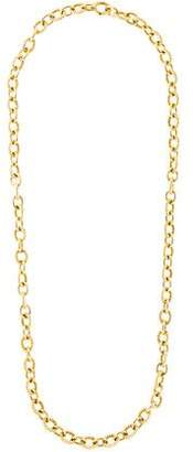 David Yurman 18K Large Oval Link Chain Necklace