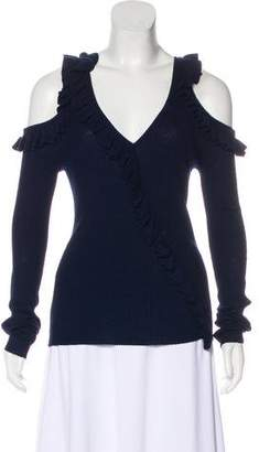 Jason Wu Wool & Silk Cold-Shoulder Sweater