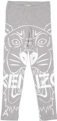 Kenzo Marco Logo Print Cotton Jersey Leggings