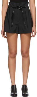 3.1 Phillip Lim Black Origami Pleated Shorts
