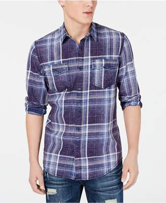 American Rag Men Dual Pocket Plaid Shirt