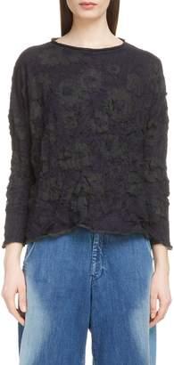 Yohji Yamamoto Y's by Wrinkle Flower Sweater