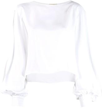 Alexandre Vauthier slit sleeve blouse