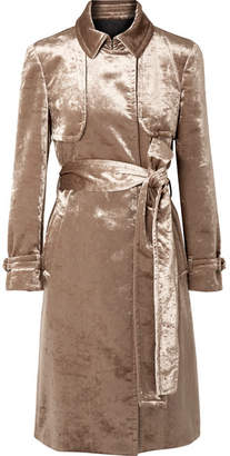 Brunello Cucinelli Cotton-blend Velvet Trench Coat - Bronze