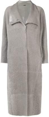 Fabiana Filippi long single breasted coat