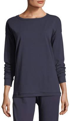 Eileen Fisher Stretch Jersey Sweatshirt Top, Petite