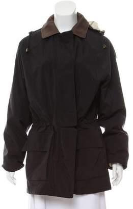 Loro Piana Horsey Leather-Trimmed Coat