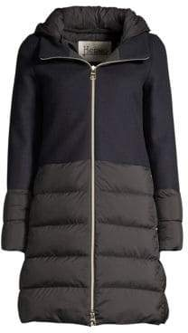 Herno Nuage Wool-Blend Puff Down Jacket