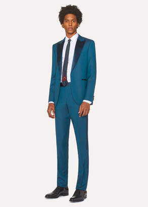 Paul Smith The Soho - Men's Tailored-Fit Teal Wool Evening Suit
