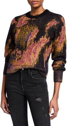 Rag & Bone Fleur Mohair Crewneck Pullover Sweater