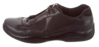 Prada Sport Round-Toe Low-Top Sneakers