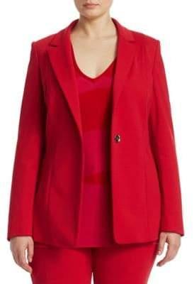 Marina Rinaldi Marina Rinaldi, Plus Size Button-Front Jacket