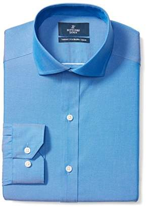 Buttoned Down Men's Tailored Fit Cutaway-Collar Solid Non-Iron Dress Shirt