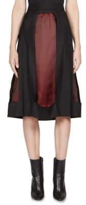 Roberto Cavalli Wool Layered Skirt