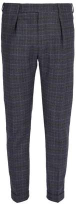 Paul Smith Checked Wool Trousers - Mens - Blue Multi