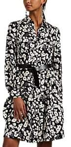 Derek Lam Women's Poppy-Pattern Silk Jacquard Shirtdress - Black Multi