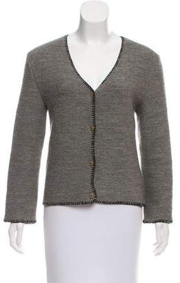 Miu Miu Heavy Knit Wool Cardigan