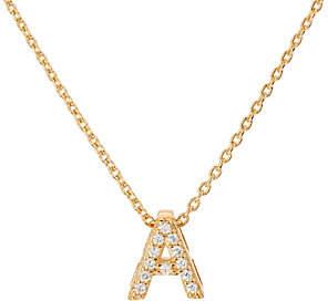 Diamonique Pave' Initial Necklace, Sterling