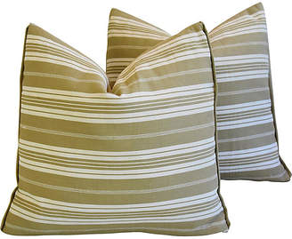 One Kings Lane Vintage French Ticking Striped Pillows